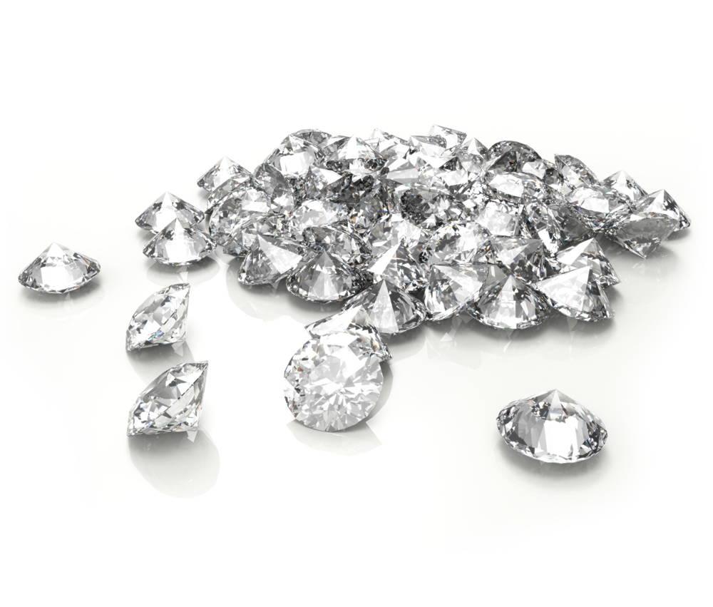 Pile of diamonds