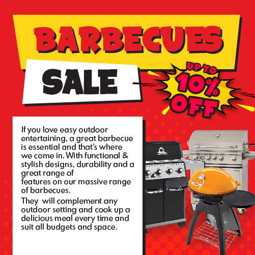 If you love easy outdoor entertaining, a great barbecue is essential and that's where we come in. With functional & stylish designs, durability and a great range of features on our massive range of barbecues.  They  will complement any outdoor setting and cook up a delicious meal every time and suit all budgets and space.