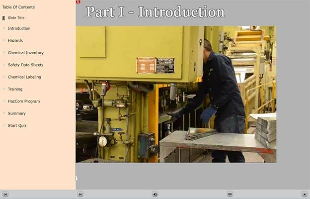 Safety Data Sheet E-Learning Module Introduction