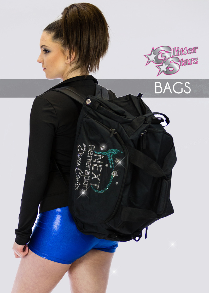 shop glitterstarz custom bling bags backpack with rhinestone team logo for cheer dance