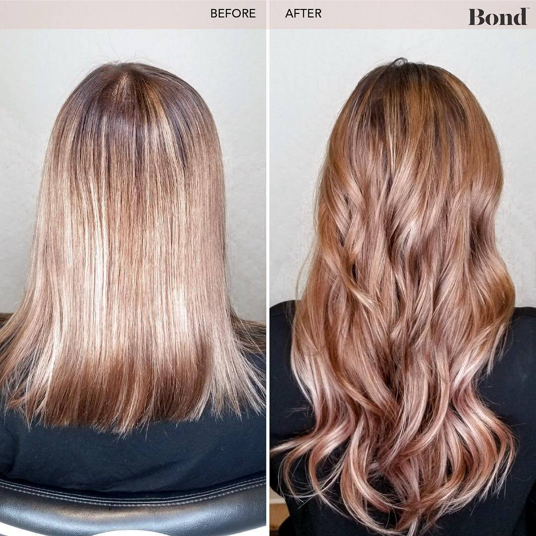 Hair extensions before and after brown hair blonde hair