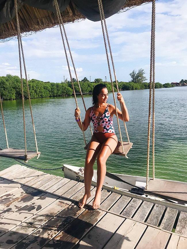Amy Serrano in Belize.