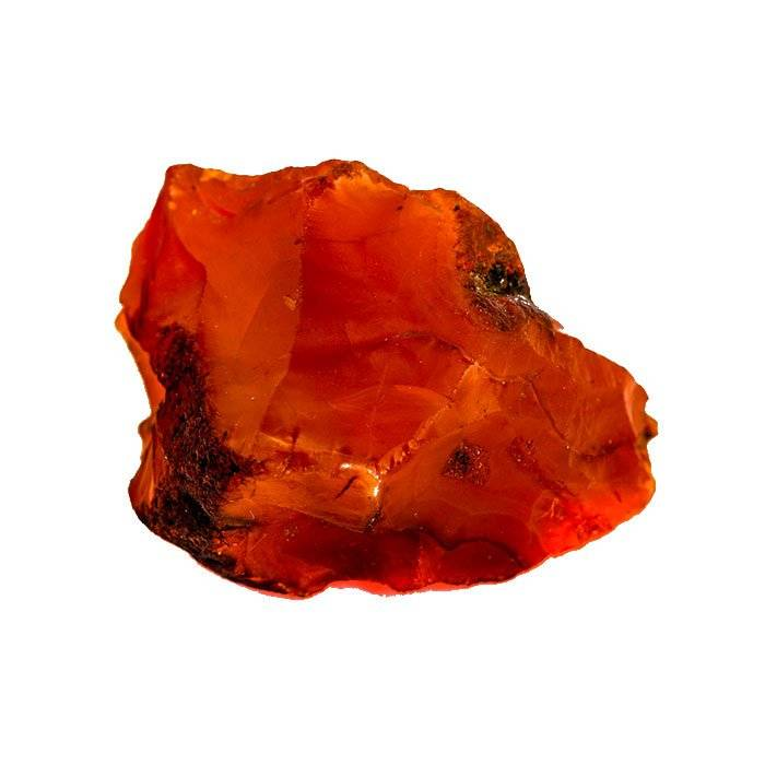 Cornaline brute rouge orangé