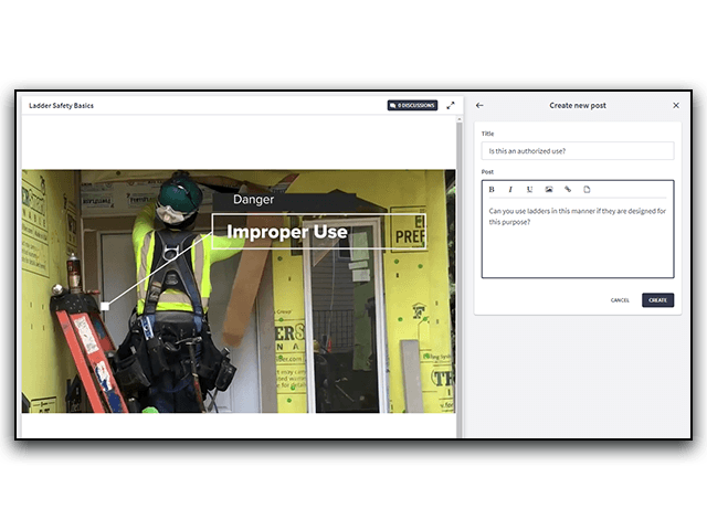 Ladder Safety Online Discussion