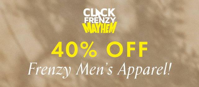 guess click frenzy mens apparel 40% off