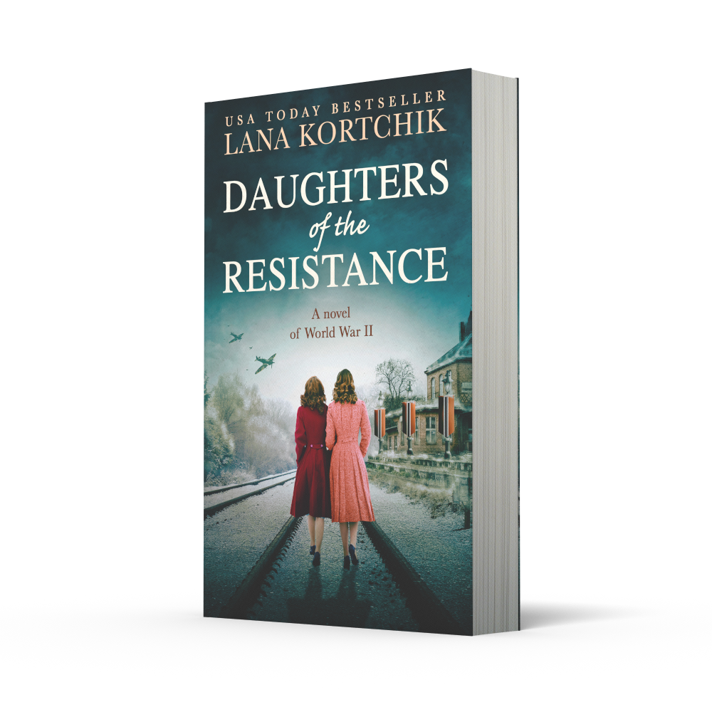 Paperback copy of daughters of the resistance