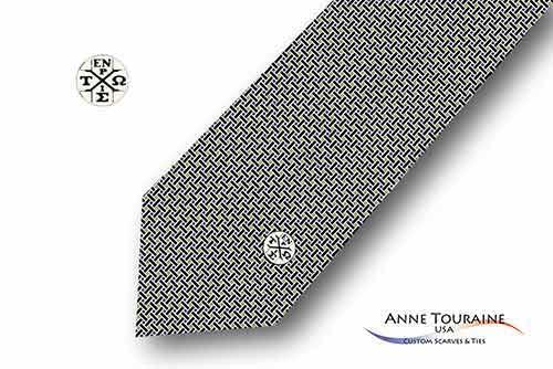 Geometric-patterned-custom-ties-bow-ties-seal-design-style-black