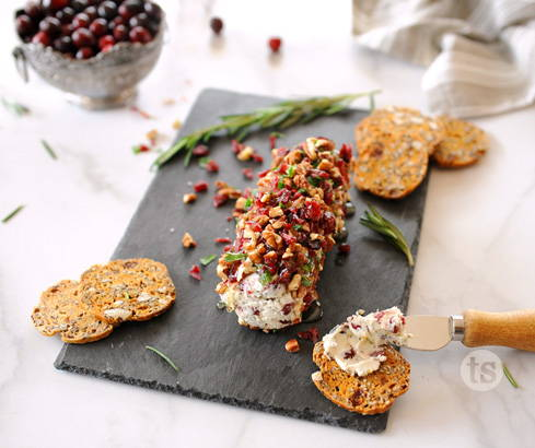 holiday cranberry cheese log