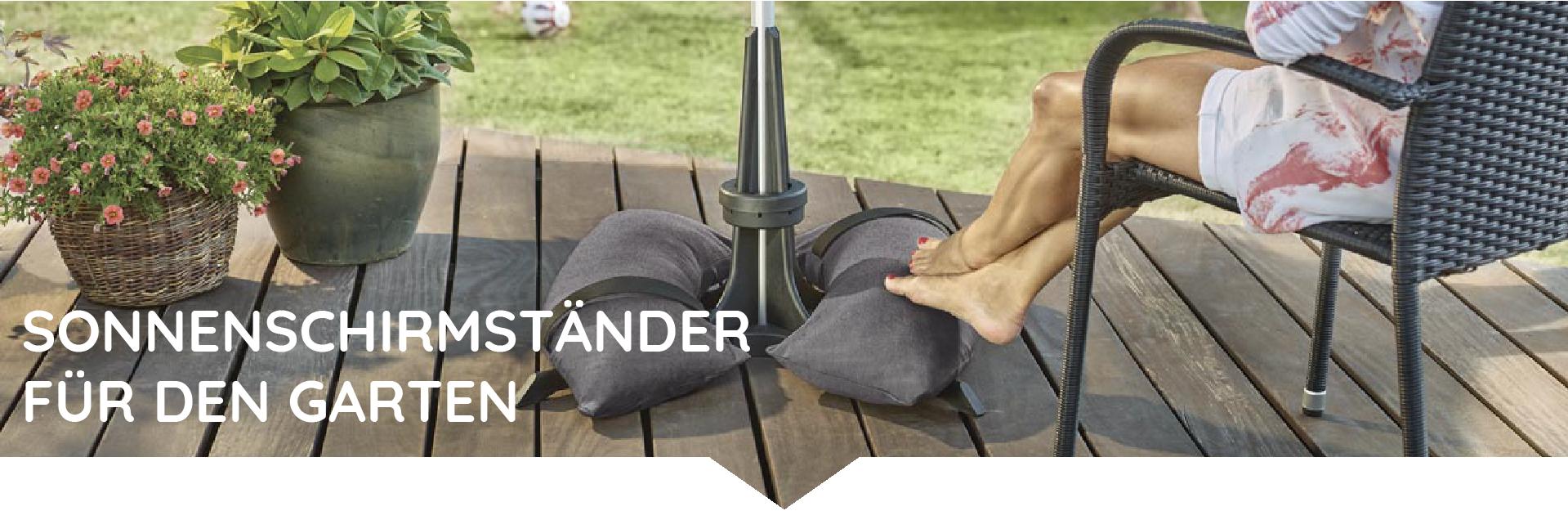 Baser Sonnenschirmständer Garten Terrasse Sandsäcke