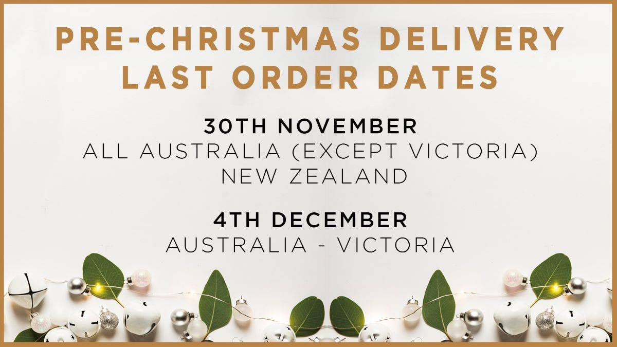 Pre-Christmas Delivery Last Order Dates