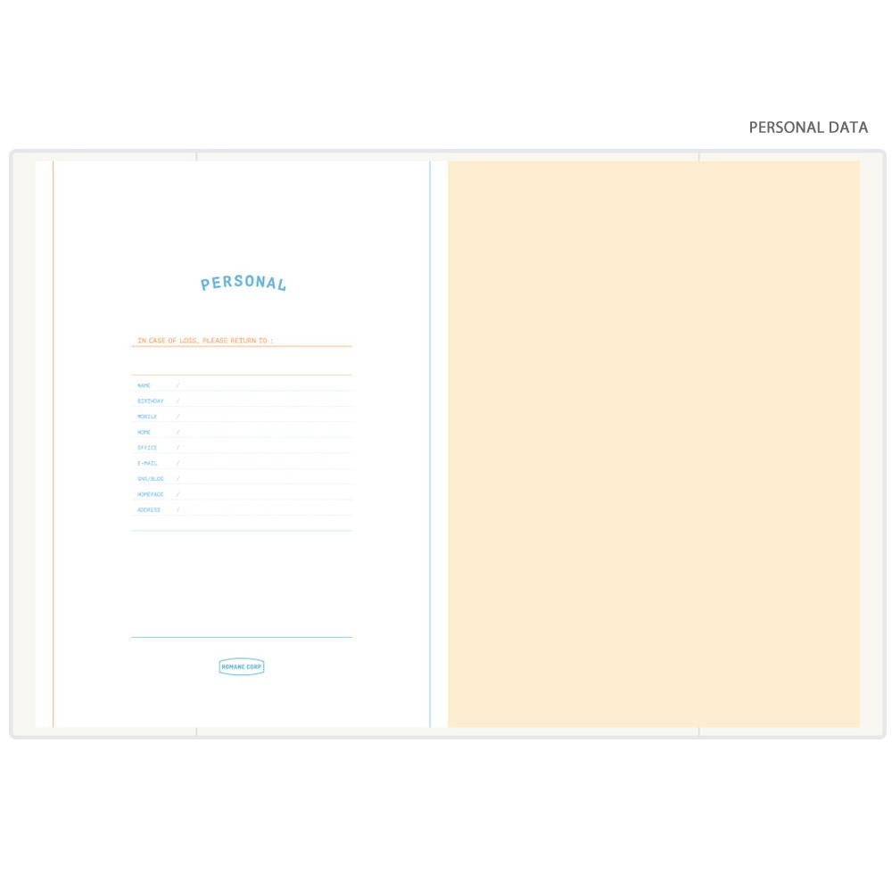 Personal data - Romane 2020 Workaholic 365 dated weekly diary planner