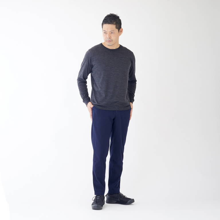 YAMAP(ヤマップ)/久留米かすりマウンテンパンツ無地/ネイビー/UNISEX
