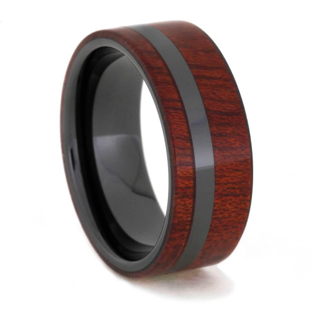 Bloodwood Ring in Black Ceramic
