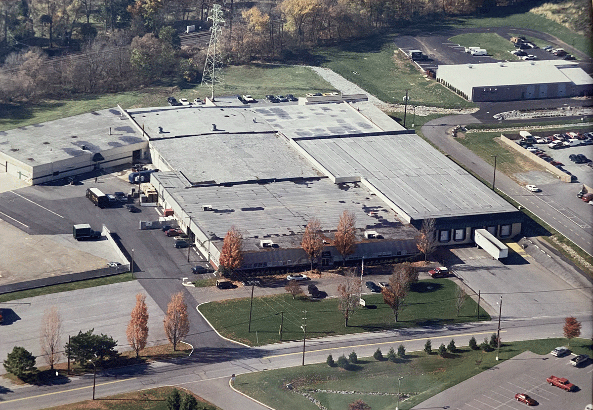 Aerial view of Novelty's headquarters