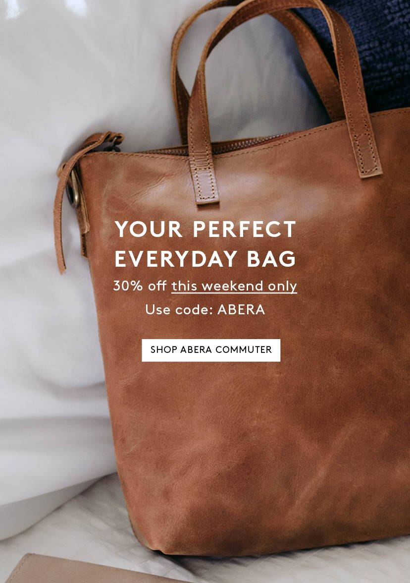 Your Perfect Everyday Bag Take 30% off Abera Commuter with code ABERA