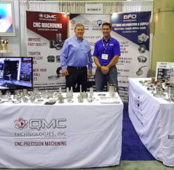 Owner James Serafin Sr & son at IMTS