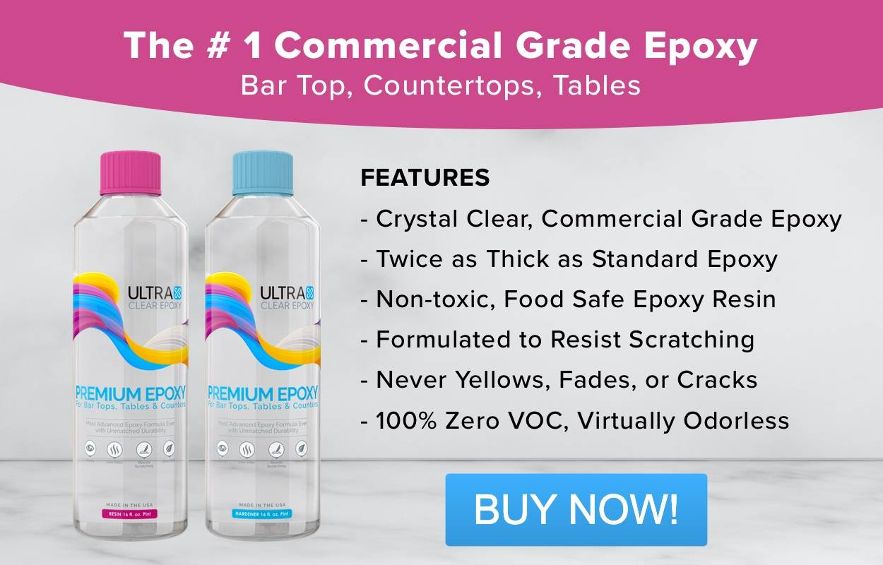 The #1 Commercial Grade Epoxy for Bar Tops, Countertops & Tables