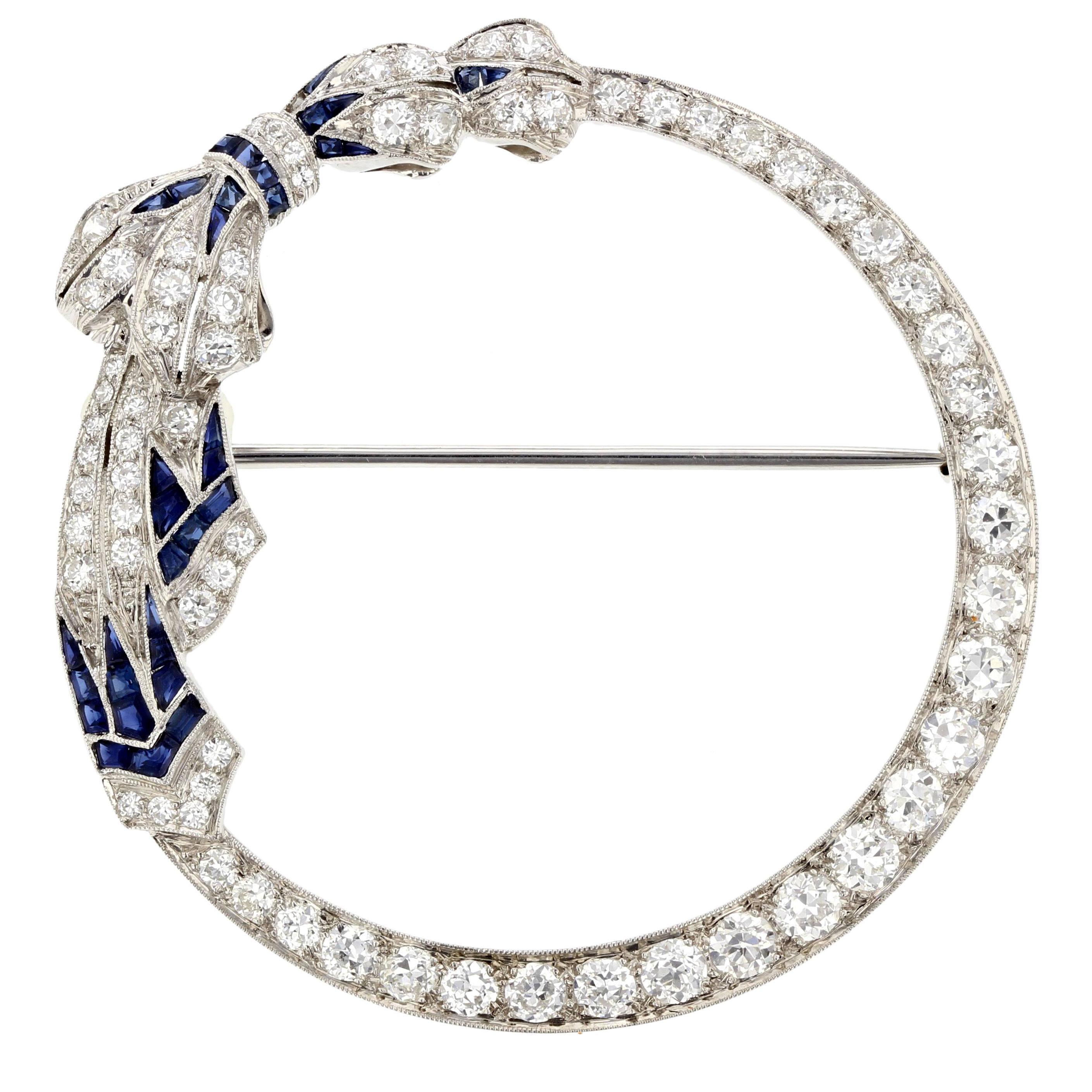 Art Deco Bow Pin