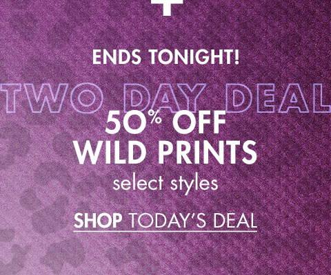 50% Off Wild Prints