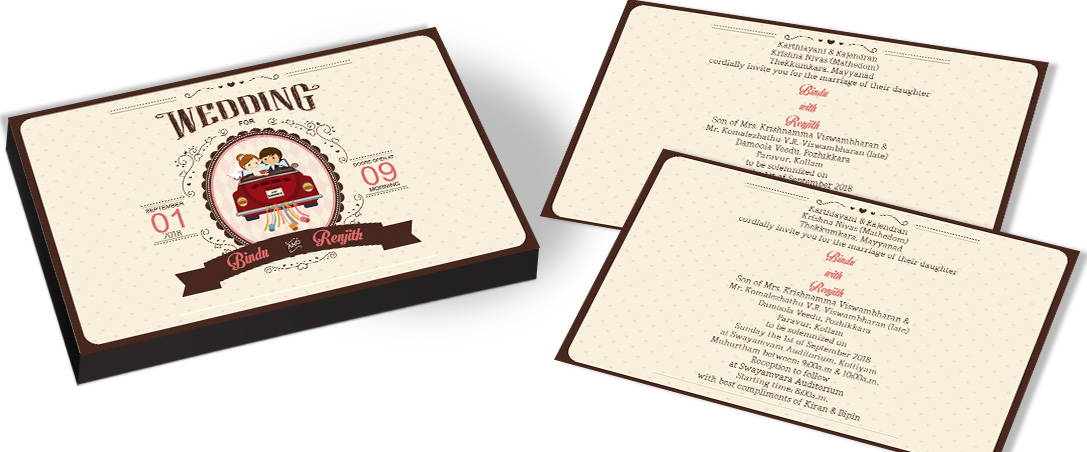 Cute Western Wedding Invitations In India