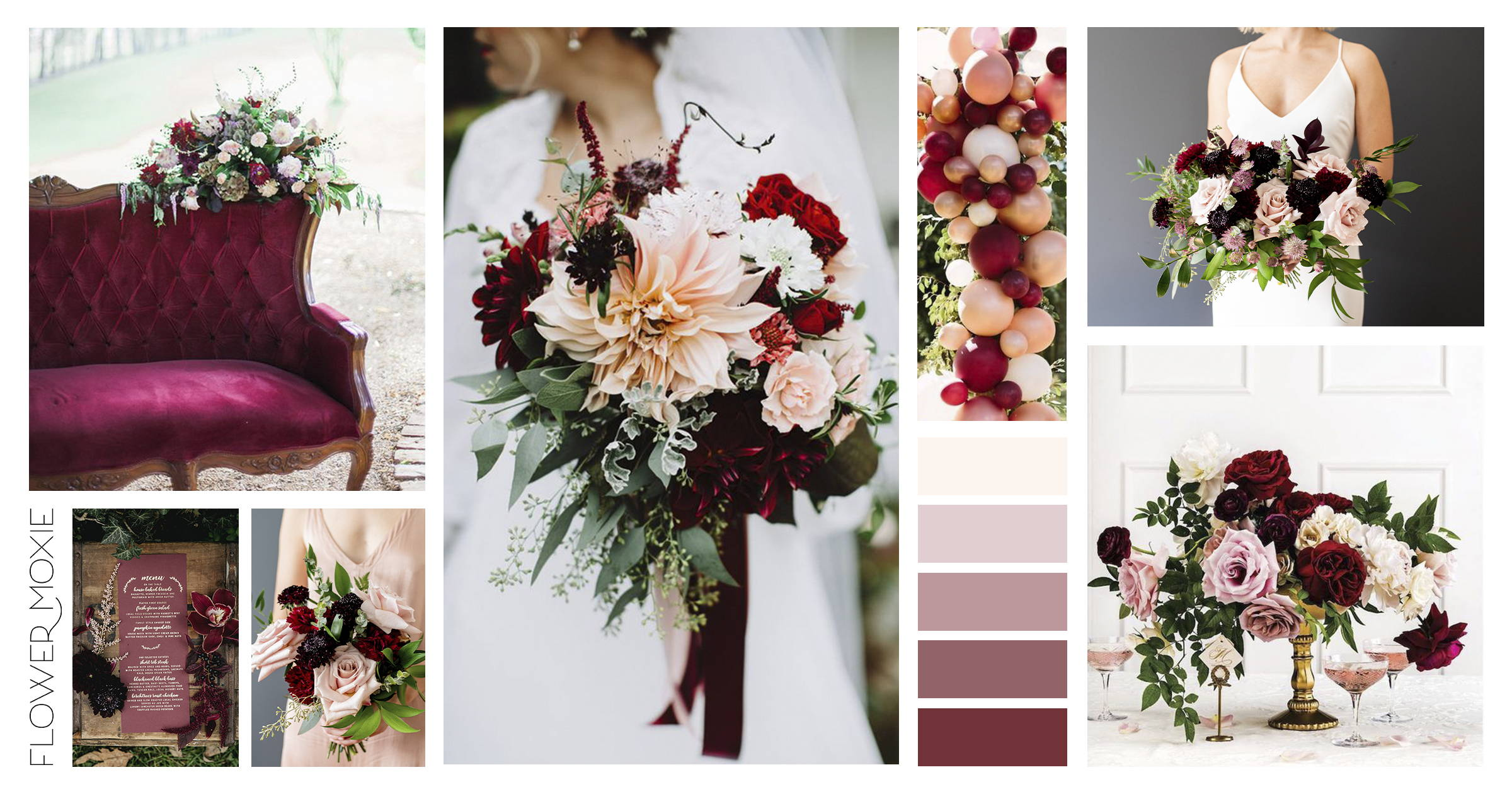 Dusty Rose and Marsala Wedding Flower DIY packages
