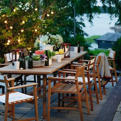 Outdoor Furniture on Sale including tables and seating