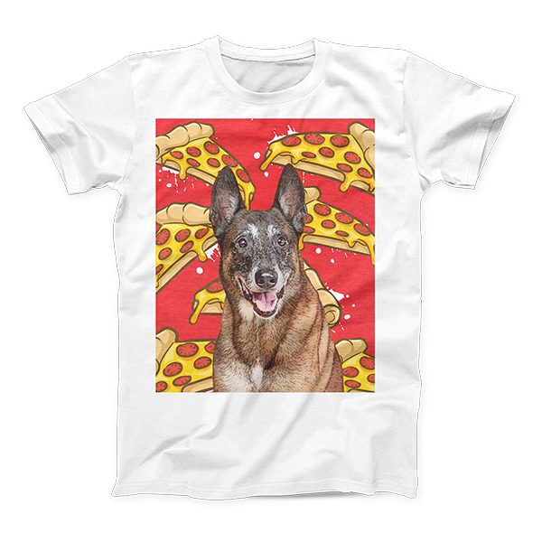 dog pop art on T-shirt - custom apparel