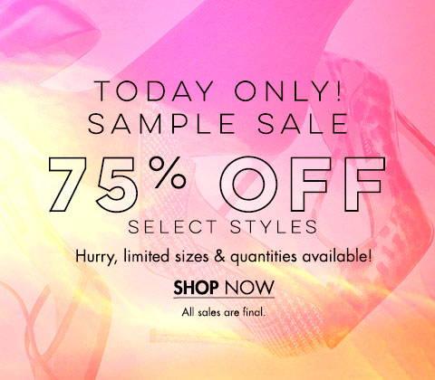Sample Sale 75% Off