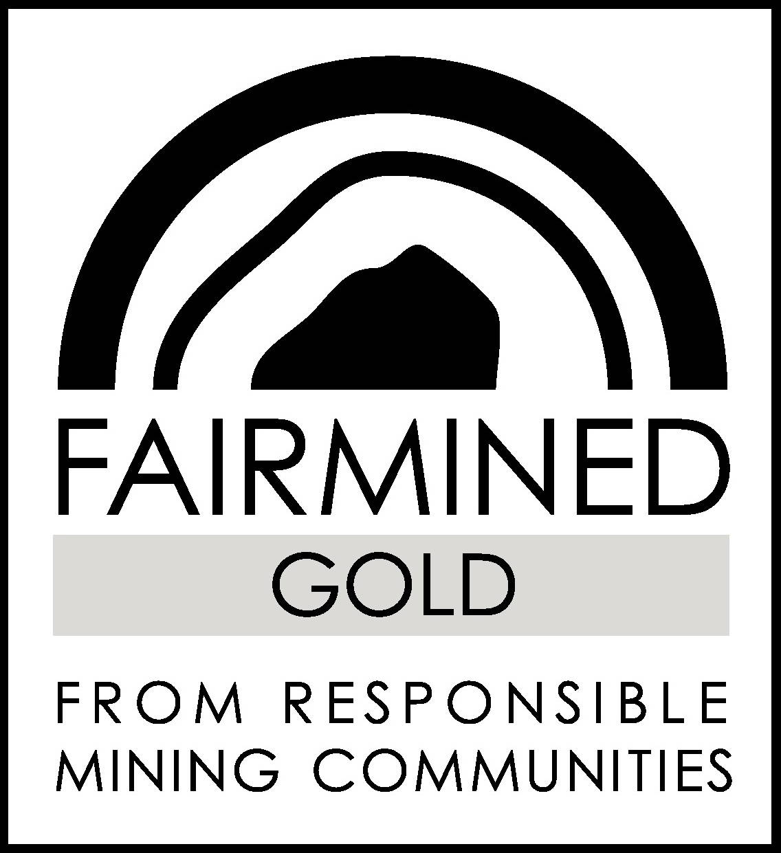 Logo : Fairmined Gold from responsible mining communities