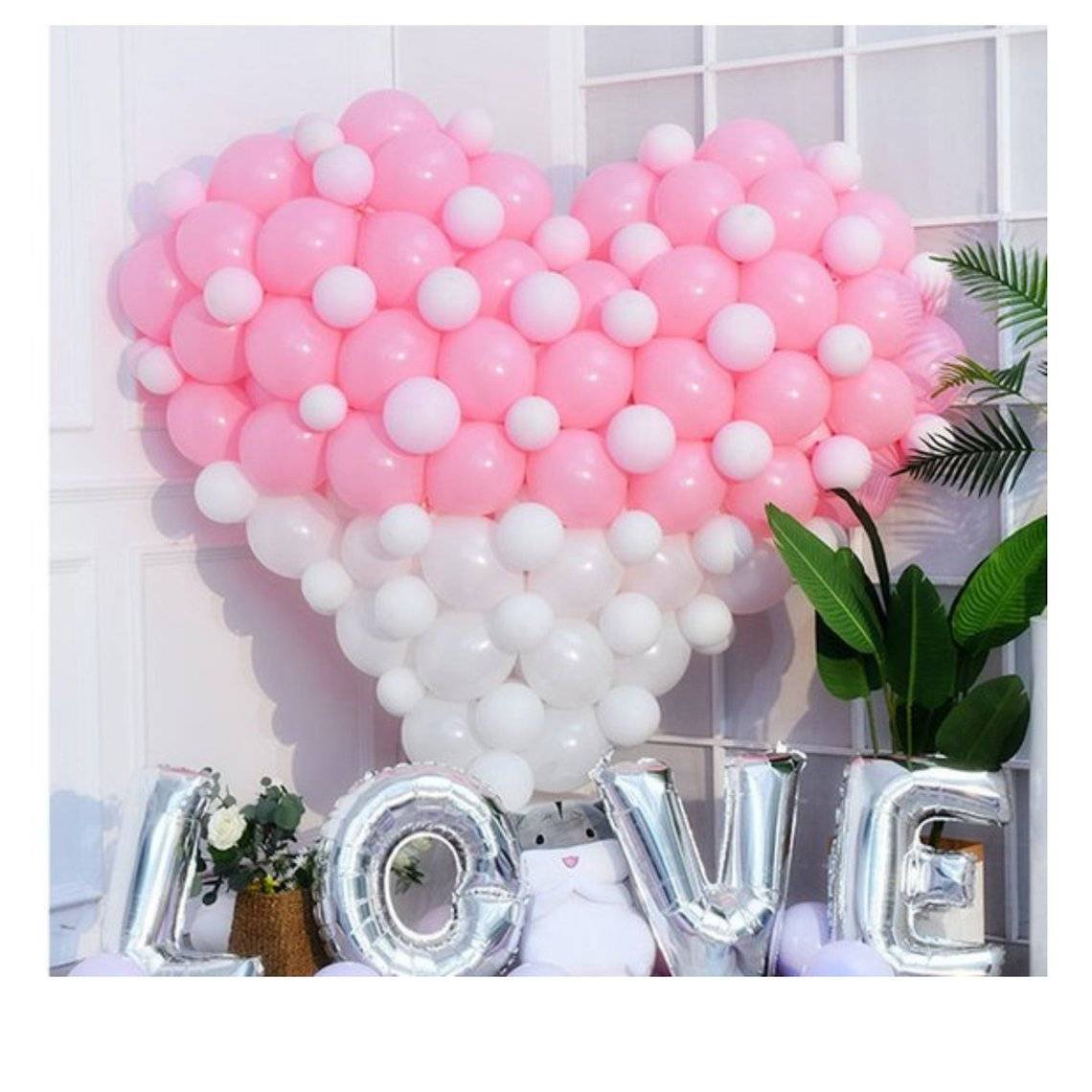 Valentine's day Exclusive Decor Giant Heart Balloon Set | Engagement Party | Wedding Decor | Marriage proposal | Pink balloon garlands