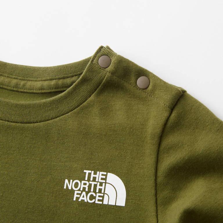 THE NORTH FACE(ザ・ノース・フェイス)/ベビーロングスリーブスクエアロゴティー/カーキ/BABY