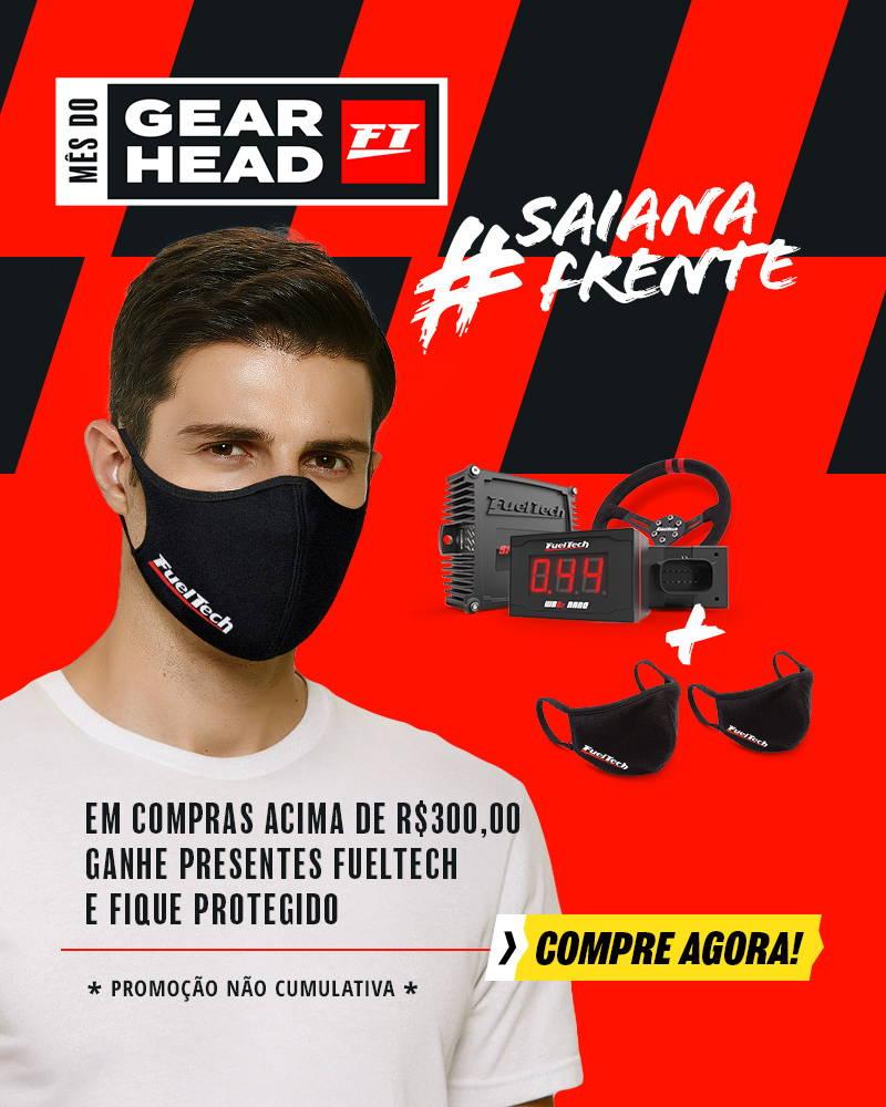 Ganhe um par de máscaras em compras acima de R$300,00 no mês do gearhead da FuelTech