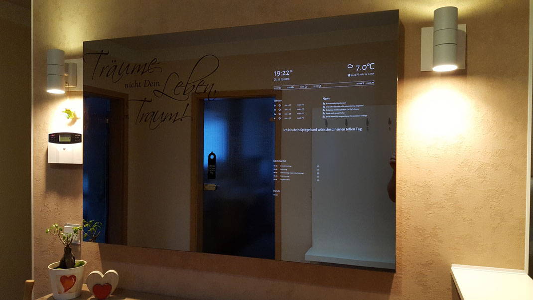 Smart Mirror Spiegel nach Maß Mirropane Chrome Spy