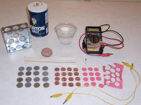 Voltaic Pile Materials