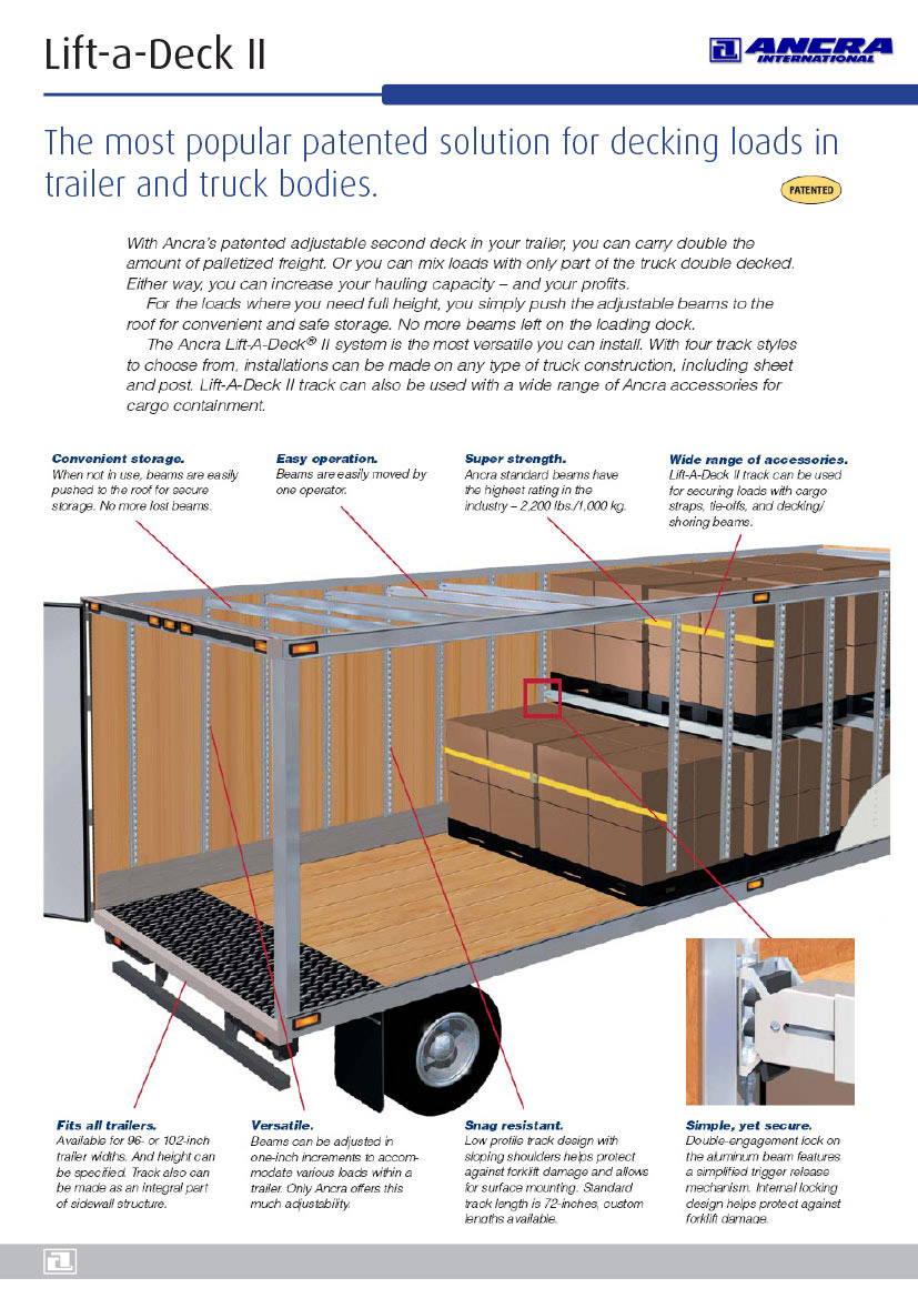 Ancra Lift-a-deck info leaflet