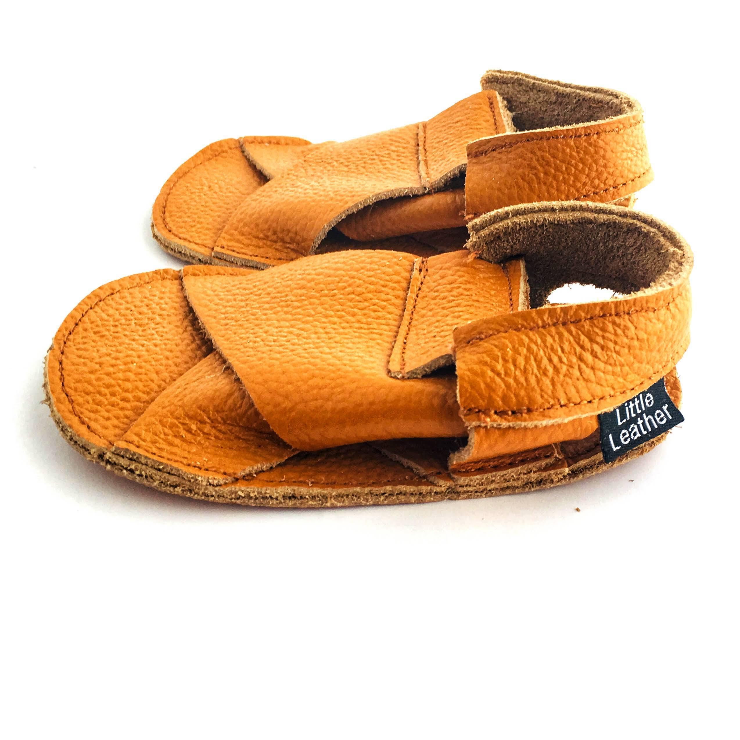 Cross Soft Sole Sandal Caramel Colour Side View