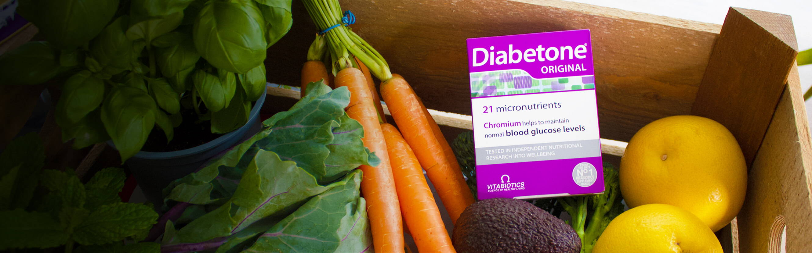 A balanced diet is always at the base of good health – and Diabetone Original is your one-a-day source of 21 essential nutrients including Chromium and B Vitamins. Designed to be comprehensive, its special formulation means there's no need to take another multivitamin.