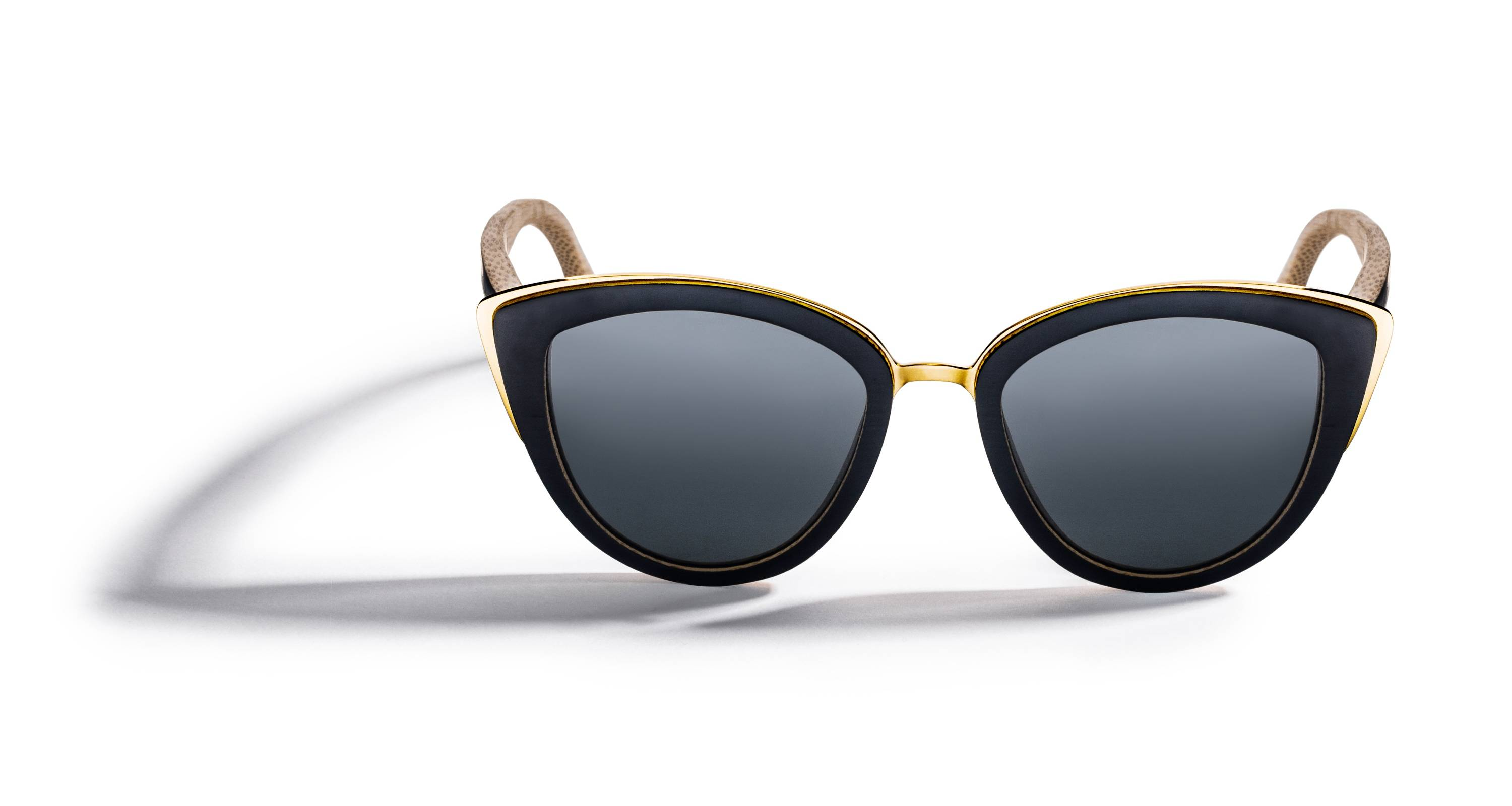 Kraywoods Willow, Cat Eye Sunglasses made from Bamboo wood with polarized dark lenses