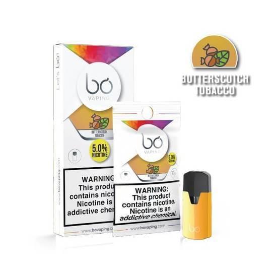 Butterscotch Tobacco Bo Vape Pods by Bo Vaping