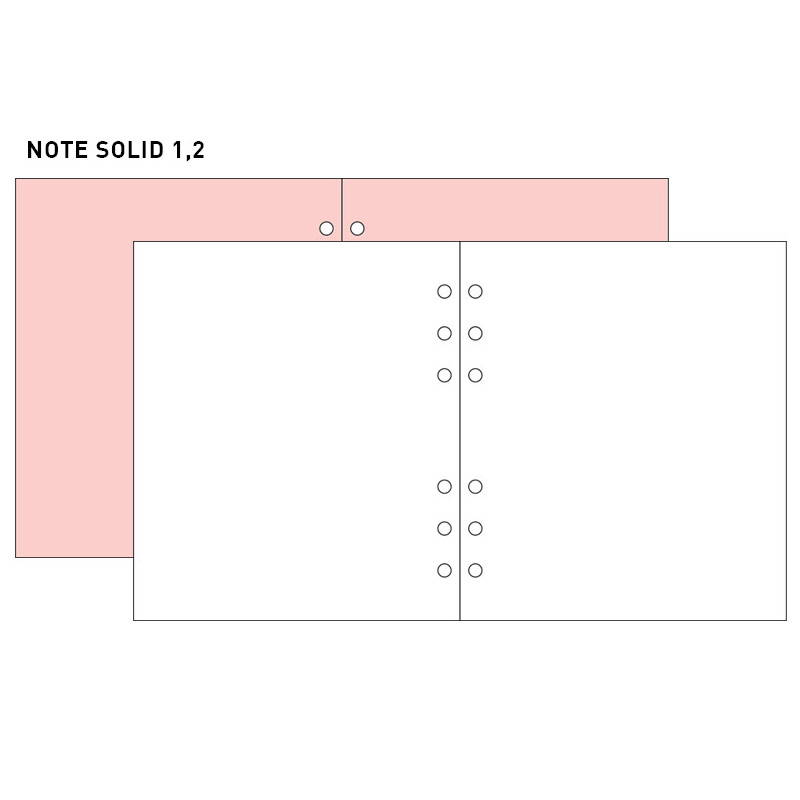 Note solid 1,2 - 2NUL-Cherry-pick-6-ring-dateless-weekly-diary-planner-