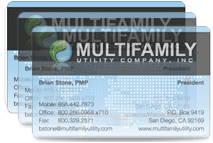clear frosted plastic business cards