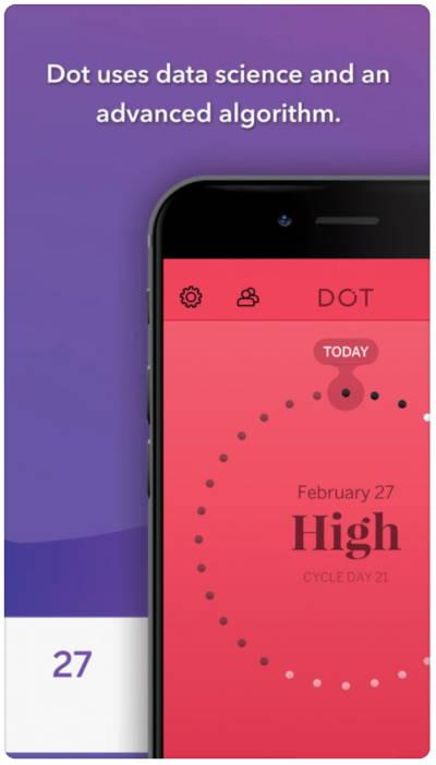 dot fertility and period tracker app