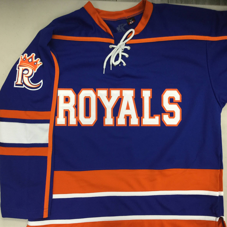 Custom embroidered twill hockey jersey example