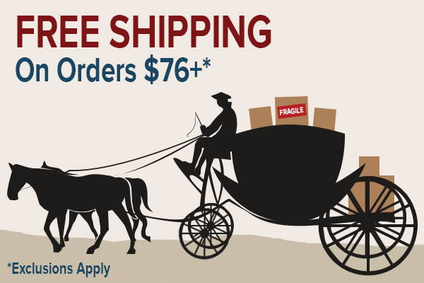 Free Shipping on Orders $76+