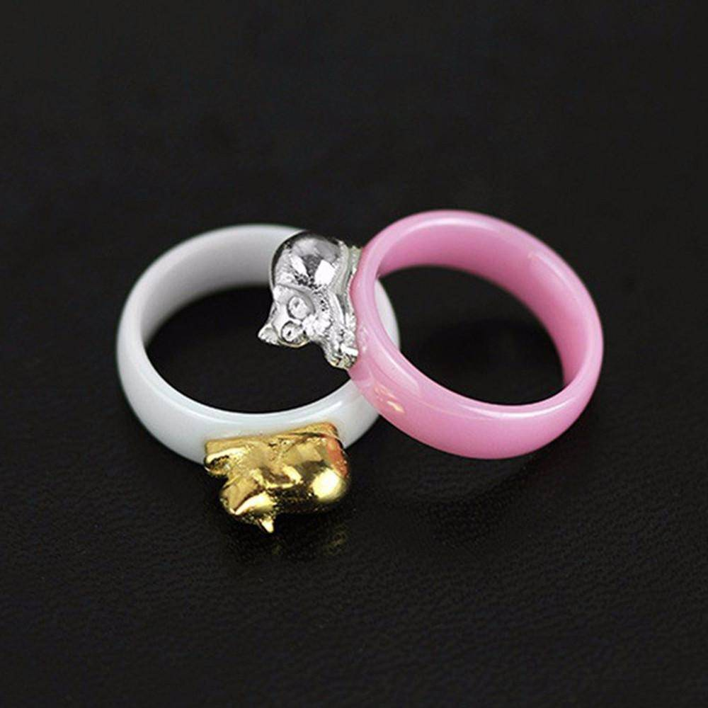 Cat Ceramic Ring - That Ring Shop