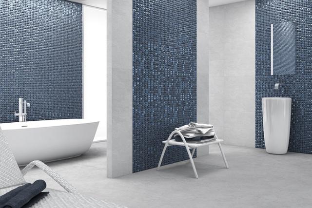 AURA DARK BLUE - Dark Blue Iridescent 1 x 1