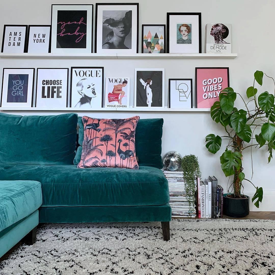 shelfie gallery wall