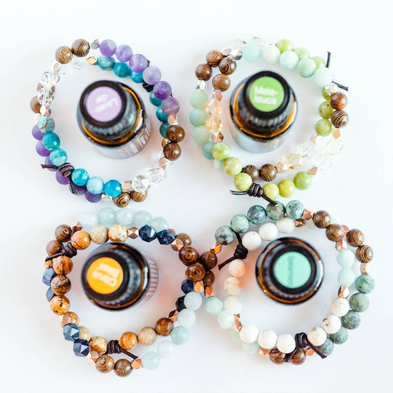 Wood diffuser bracelets for essential oils