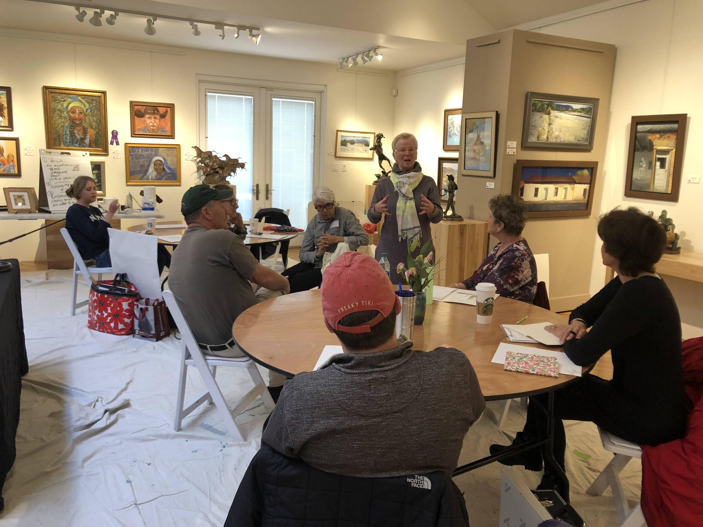 BJ Briner. Multimedia art. Artist Workshops. Santa Fe ARtist Workshops. Durango Artist Workshops.