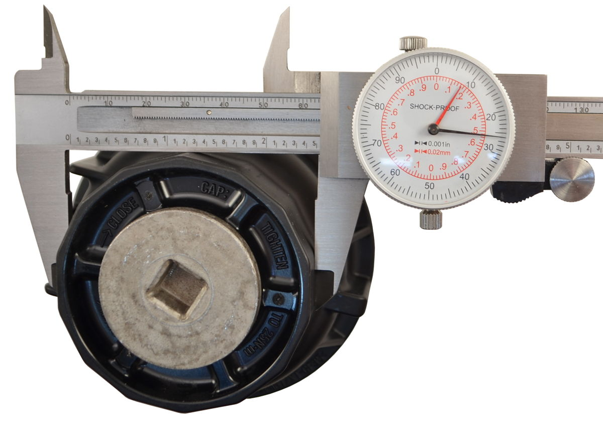 Caliper Measuring A Toyota 64mm 14 Flute Top Ring